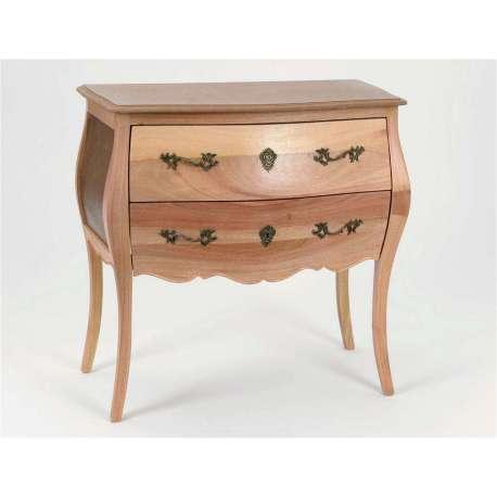 Commode peindre en bois brut avec deux tiroirs for Meubles bois brut a peindre