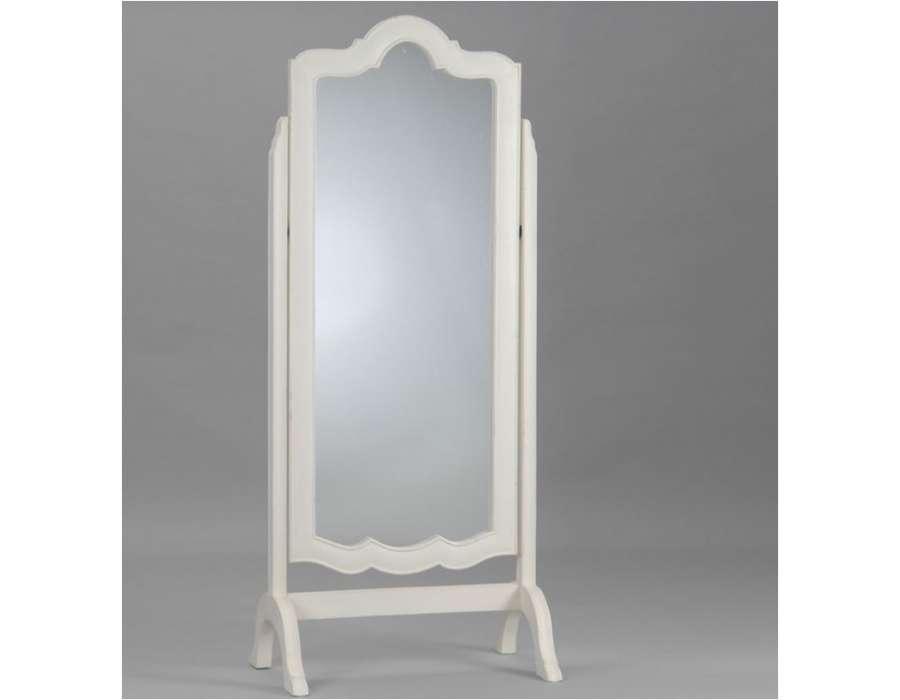 Miroir psych baroque blanc de la marque amadeu for Miroir psyche