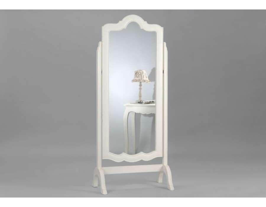 Miroir psych baroque blanc de la marque amadeu for Grand miroir blanc baroque
