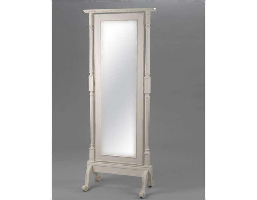 Miroir psych blanc style directoire de la marque amadeu for Miroir psyche