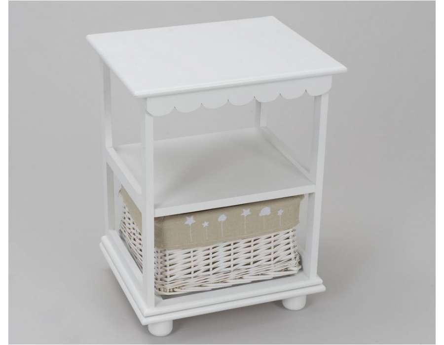 Table enfant blanche conceptions de maison - Chevet avec panier osier ...