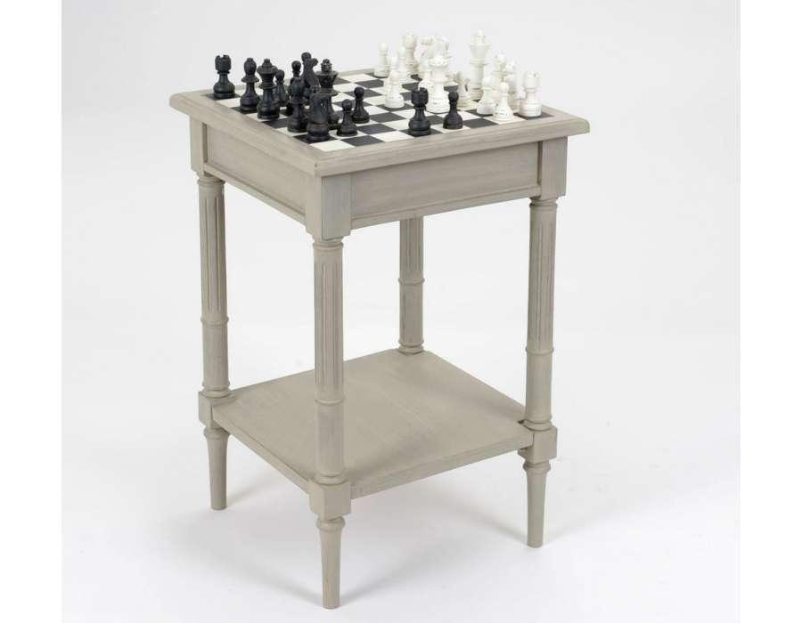 table jeux d 39 chec bois c rus amadeus. Black Bedroom Furniture Sets. Home Design Ideas