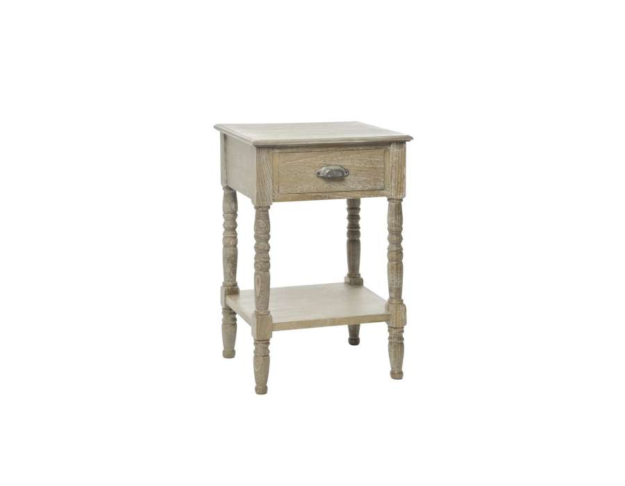 Table de chevet bois c rus ch ne clair for Table de nuit bois