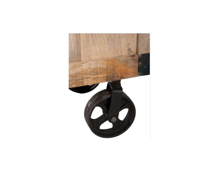 commode industrielle sur roues jolipa. Black Bedroom Furniture Sets. Home Design Ideas