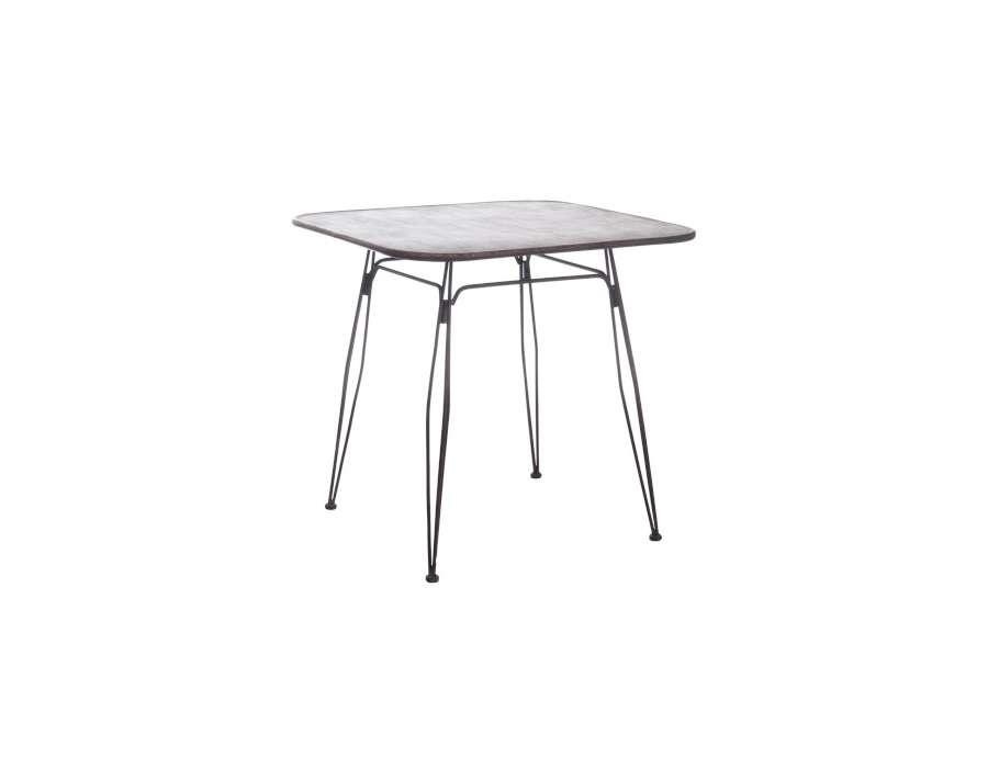 Petite roulettes industrielles noires for Petite table industrielle