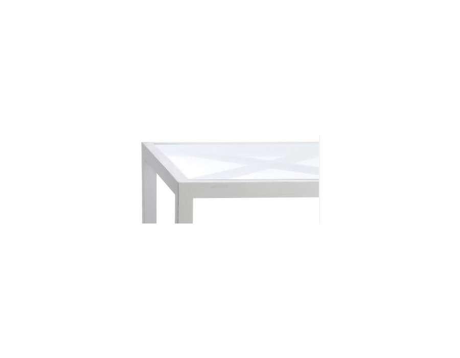 Table basse bois blanc et verre prix int ressant for Table basse en bois blanc