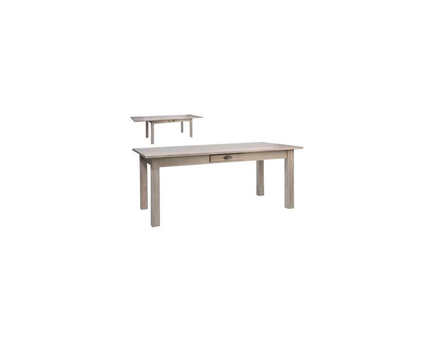 Grande table bois pas chere rectangulaire avec large plateau for Grande table bois