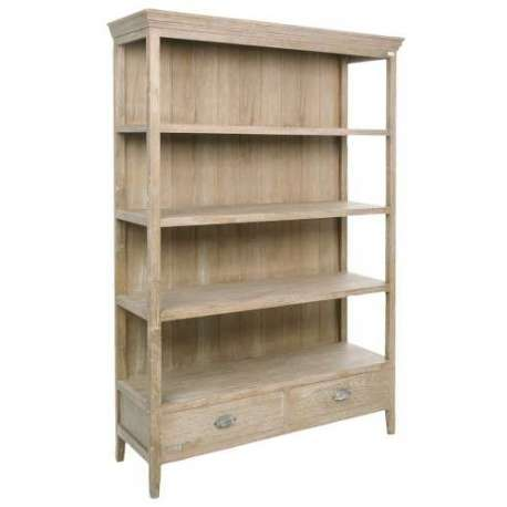 biblioth que bois c rus avec 2 tiroirs pas chere. Black Bedroom Furniture Sets. Home Design Ideas