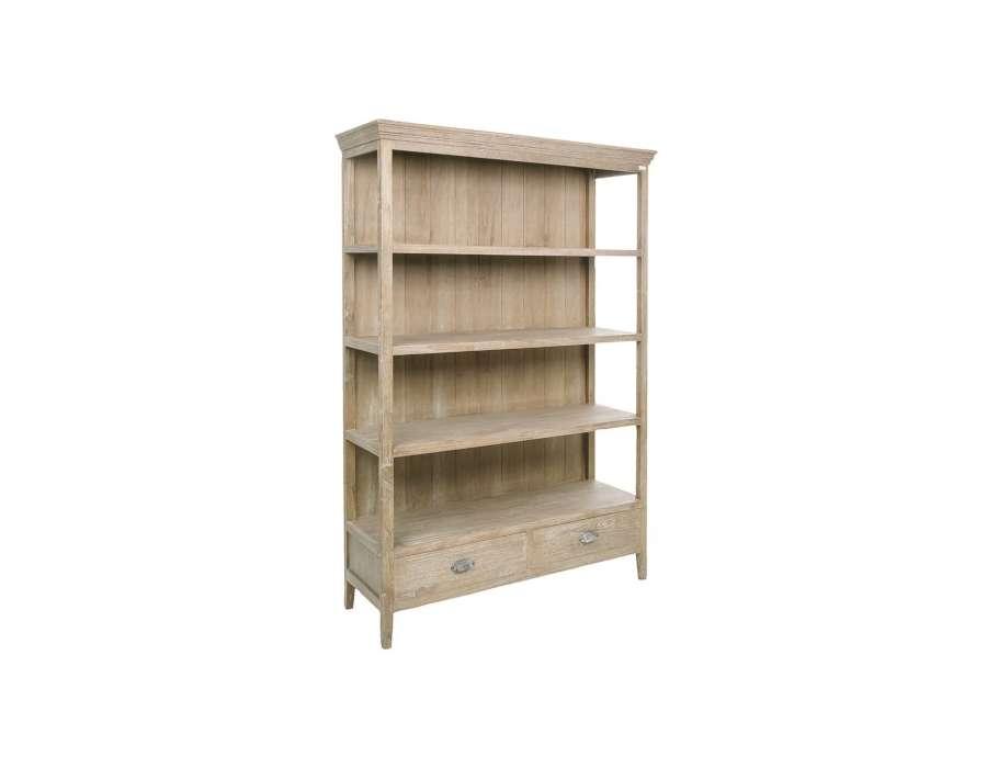 Biblioth que bois c rus avec 2 tiroirs pas chere - Etagere murale pas chere ...