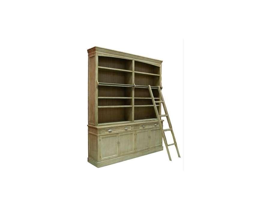 Echelle bibliotheque bois maison design - Model de biblioth u00e8que en bois ...