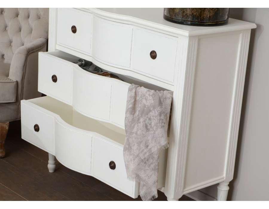 Meuble tiroir chambre lilou lit volutif blanc 3 positions for Lit commode adulte