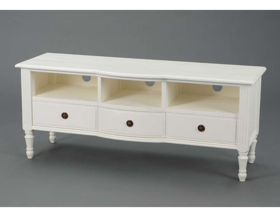 meuble tv blanc charme meuble amadeus shabby chi. Black Bedroom Furniture Sets. Home Design Ideas