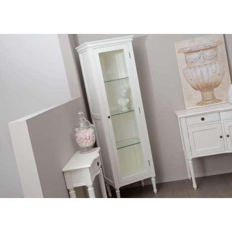 armoire vitr e blanche 1porte pas chere. Black Bedroom Furniture Sets. Home Design Ideas