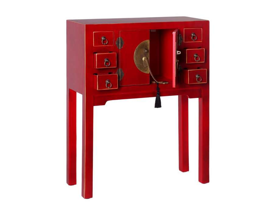 petite console chinoise rouge meuble chinois pas cher. Black Bedroom Furniture Sets. Home Design Ideas