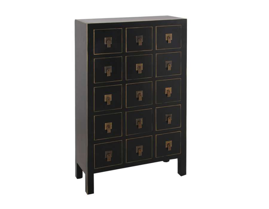 meule tiroirs chinois noir pas chere. Black Bedroom Furniture Sets. Home Design Ideas