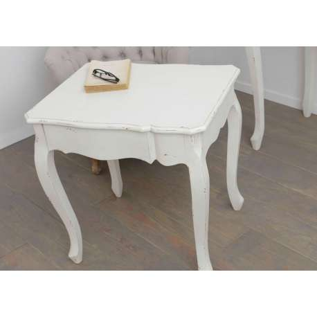 petite table d 39 appoint pour salon blanche shabby. Black Bedroom Furniture Sets. Home Design Ideas
