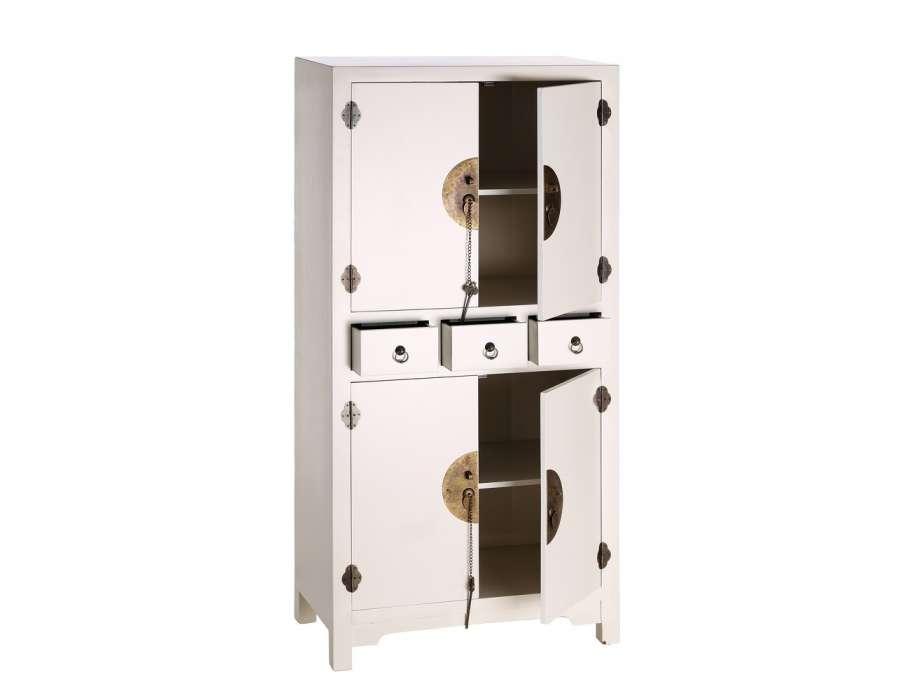 Petite Armoire Blanche : petite armoire chinoise blanche pas chere ~ Teatrodelosmanantiales.com Idées de Décoration