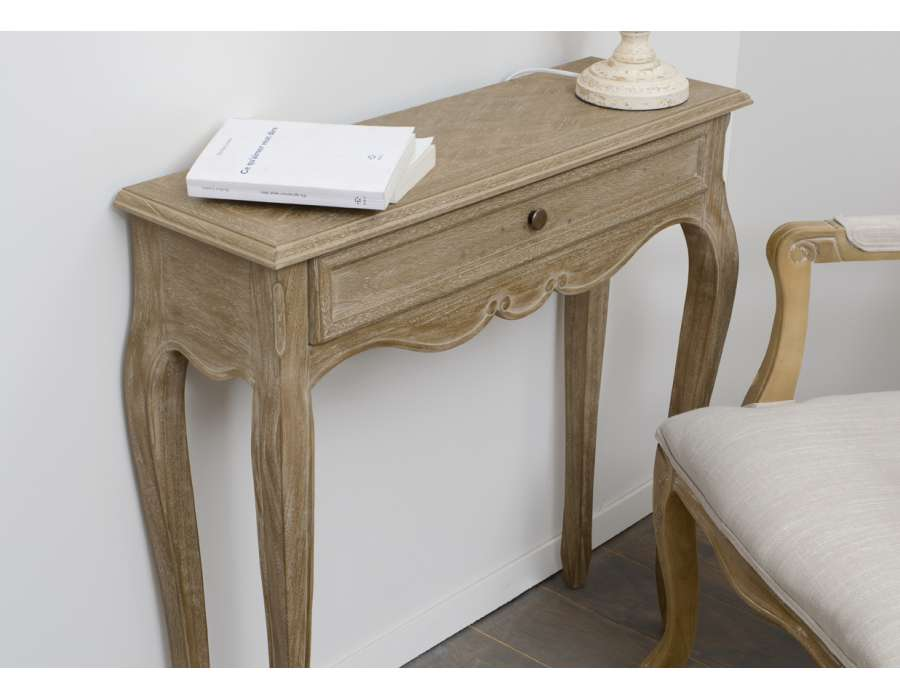 console bois clair. Black Bedroom Furniture Sets. Home Design Ideas