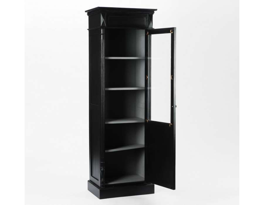 meuble vitrine bois. Black Bedroom Furniture Sets. Home Design Ideas