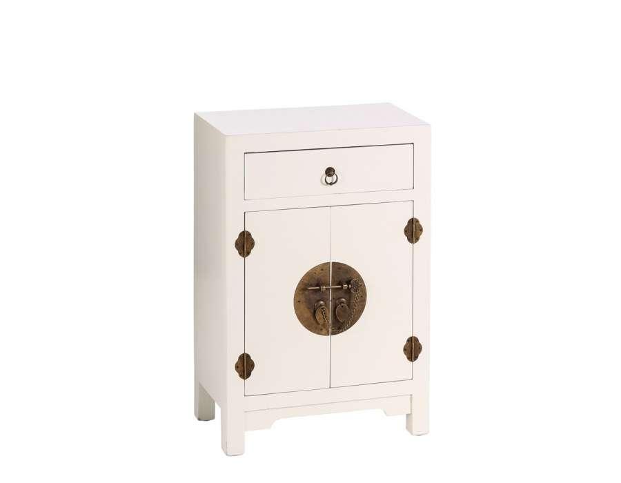 Petit meuble de rangement chinois blanc meuble chinois for Petit meuble de rangement blanc