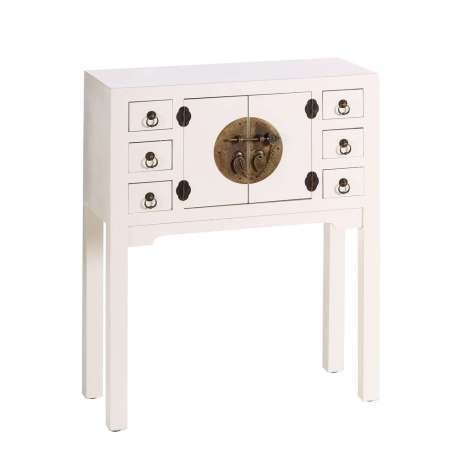 petite console d 39 entr e chinoise blanche meuble chinois. Black Bedroom Furniture Sets. Home Design Ideas