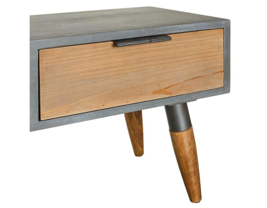 Meuble tele bois gris solutions pour la d coration for Meuble tele gris