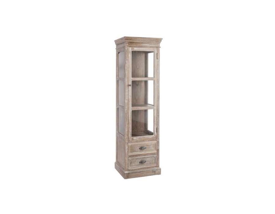 Meuble Vitrine Bois - meuble vitrine bois cérusé pas chere