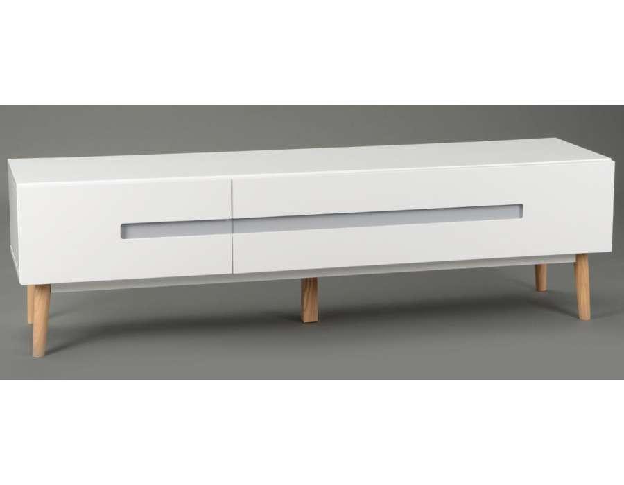 Meuble Tv Design Blanc Laque Roberto : Accueil > Marques > Mobilier Amadeus > Meuble Tv Laqué Blanc Design