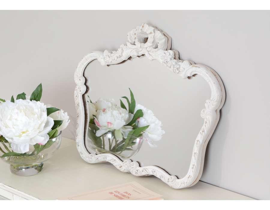 Cat gorie miroir page 14 du guide et comparateur d 39 achat for Miroir blanc vieilli
