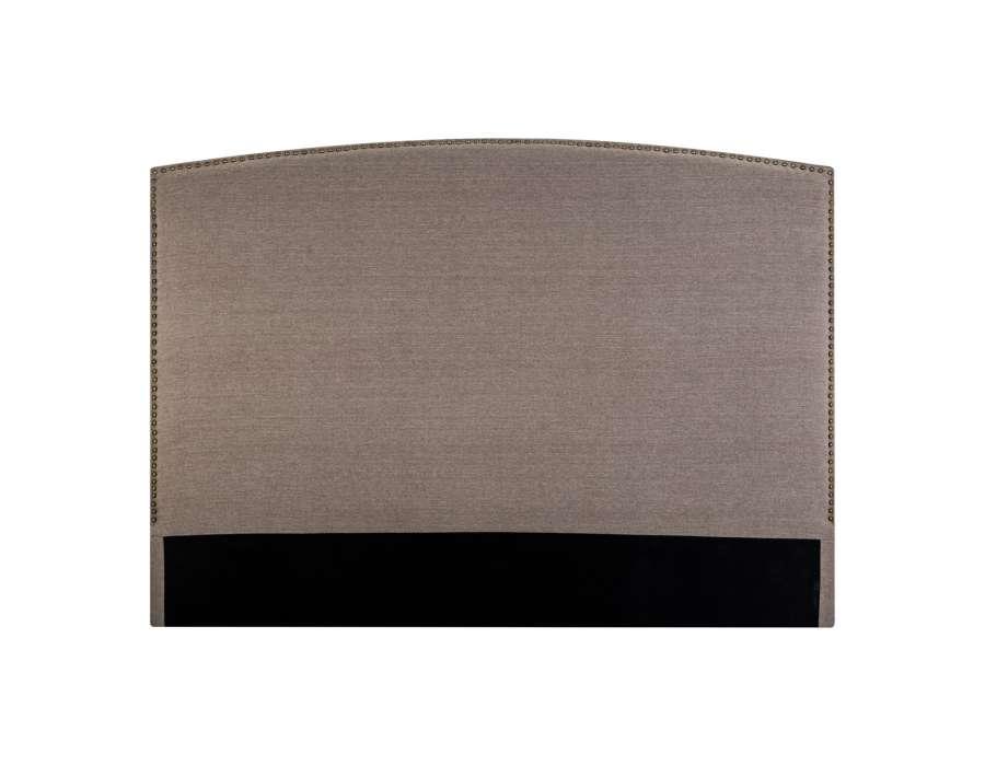 t te de lit taupe clout e 160 cm. Black Bedroom Furniture Sets. Home Design Ideas