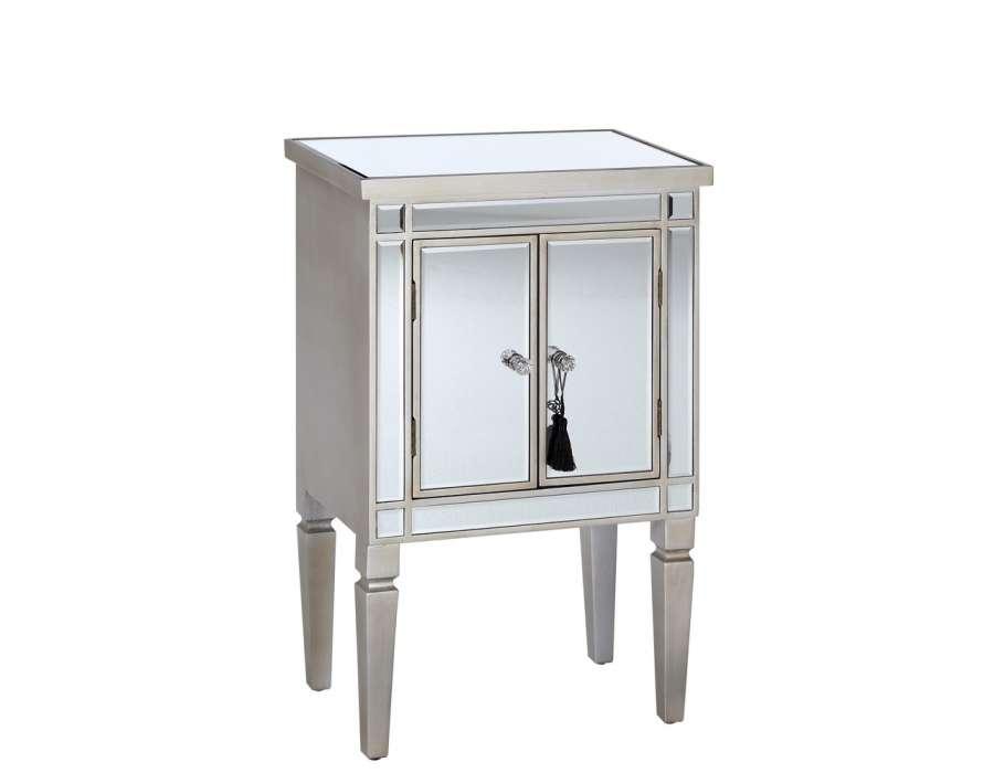 Meuble d entree miroir porte manteau en bois patin gris for Miroir patere entree
