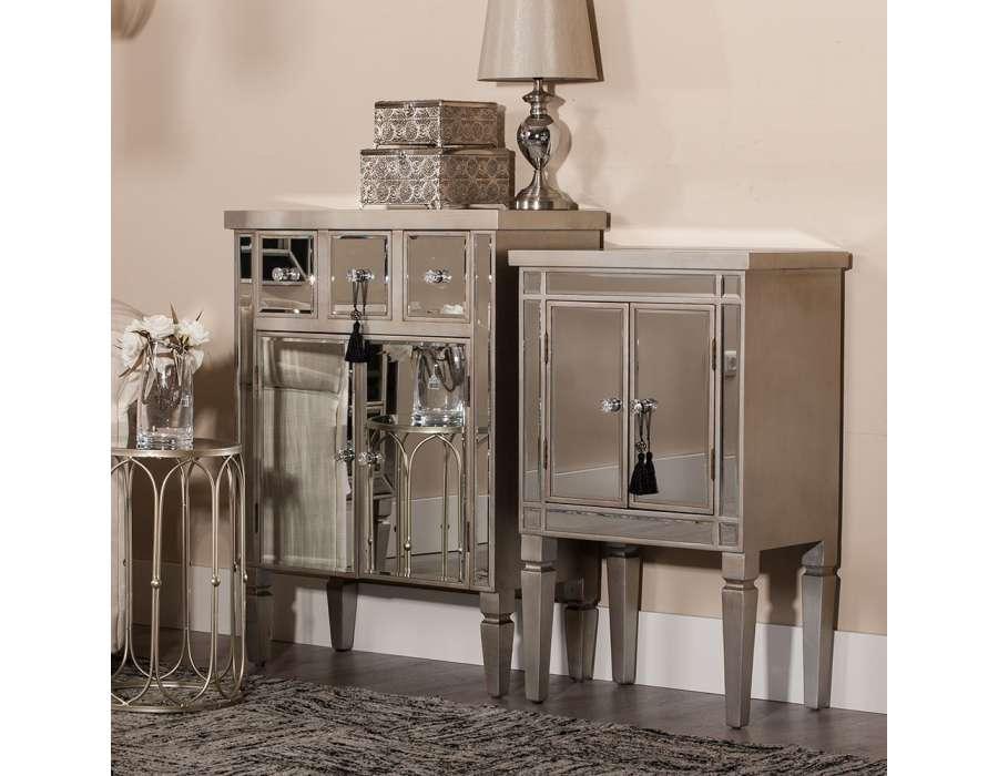 Meuble d entree miroir porte manteau en bois patin gris for Meubles en miroir