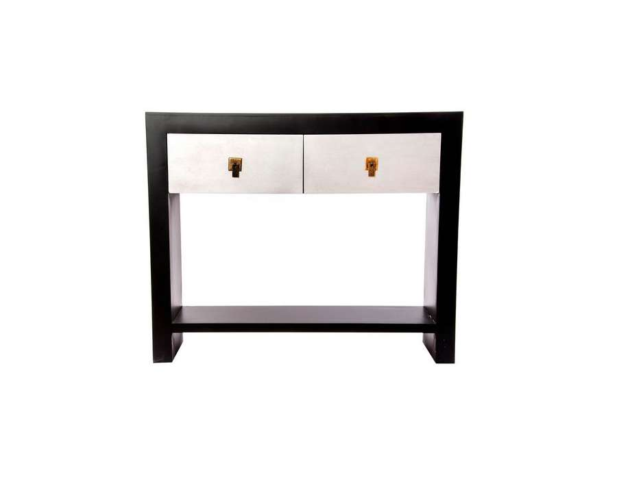 console noire et argent japonaise contemporaine. Black Bedroom Furniture Sets. Home Design Ideas