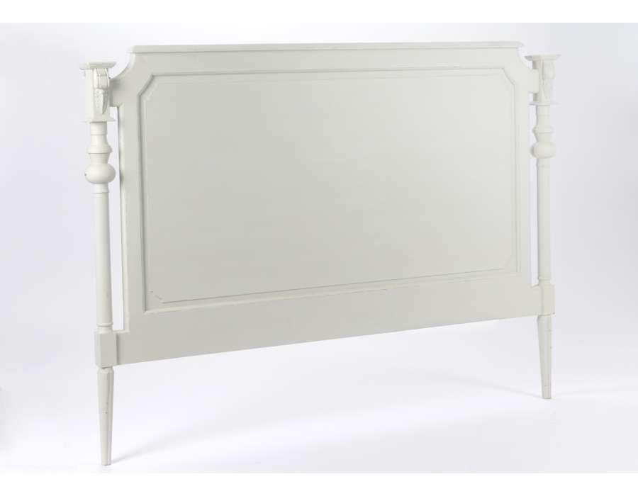 Tete de lit 160 cm gris clair romantique