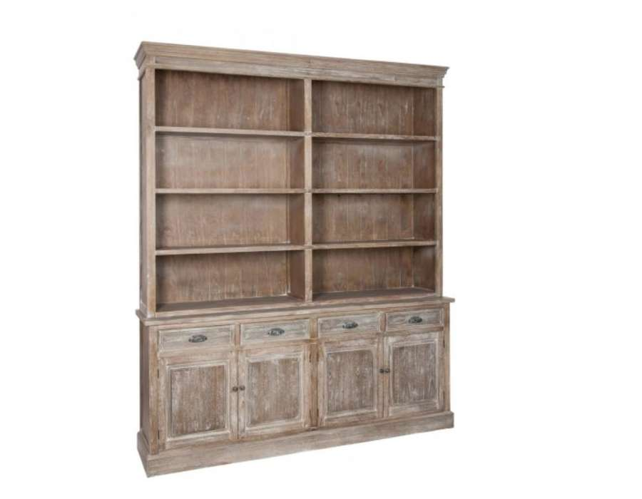 grand meuble biblioth que bois c rus avec placard pas chere. Black Bedroom Furniture Sets. Home Design Ideas