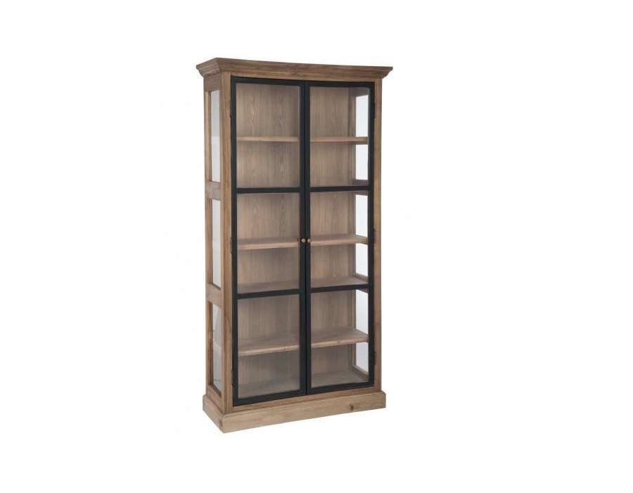 Armoire vitr e 2 portes c rus armoire vitr e pas cher jolipa for Porte de service bois vitree pas cher