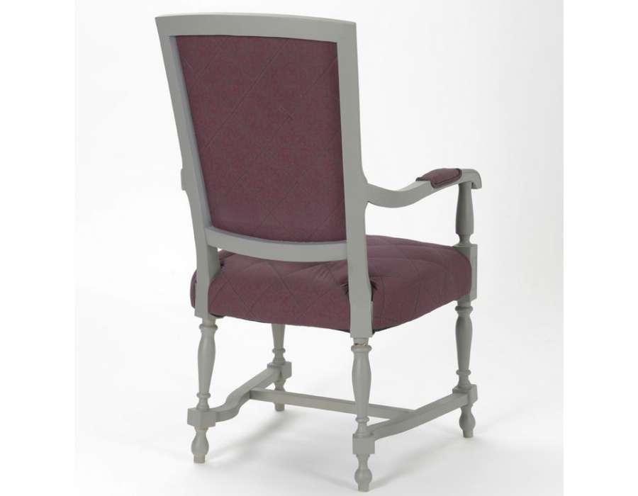 Fauteuil louis xiv prune et gris fauteuil moderne regence - Fauteuil crapaud prune ...