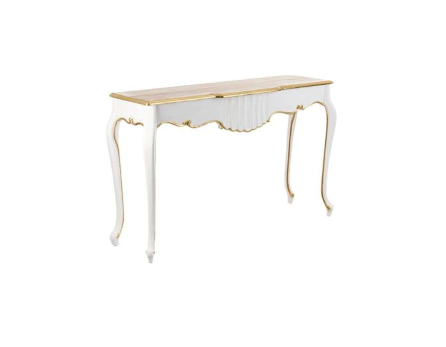 Home guide d 39 achat - Console blanche baroque ...