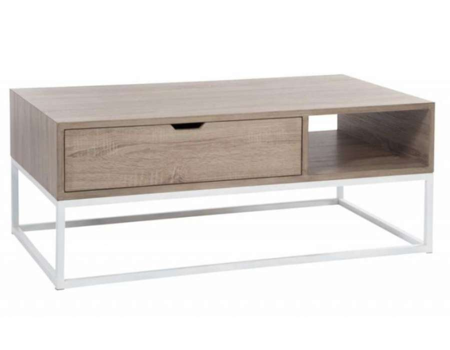 Table basse scandinave avec tiroir for Table basse scandinave design
