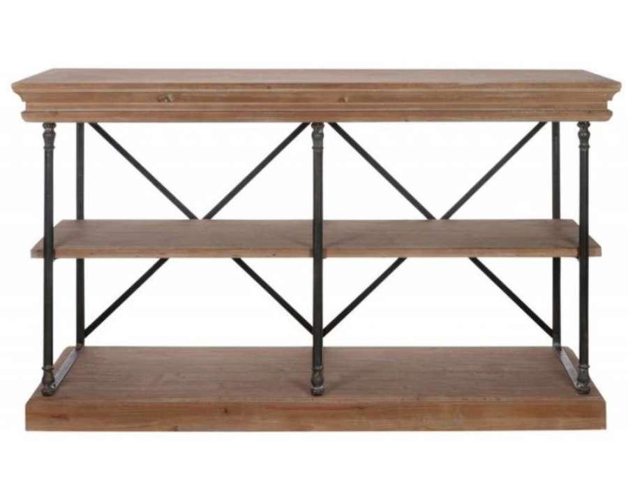 table de drapier bois brut. Black Bedroom Furniture Sets. Home Design Ideas