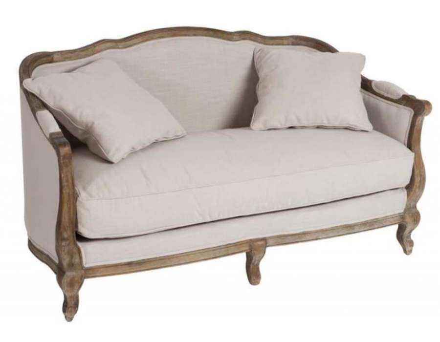 canap romantique beige maison cosy. Black Bedroom Furniture Sets. Home Design Ideas