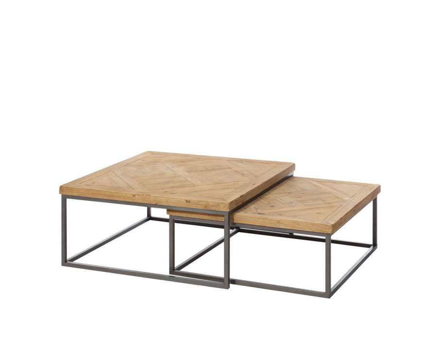 Table basse coffre bar bois for Table basse coffre bois