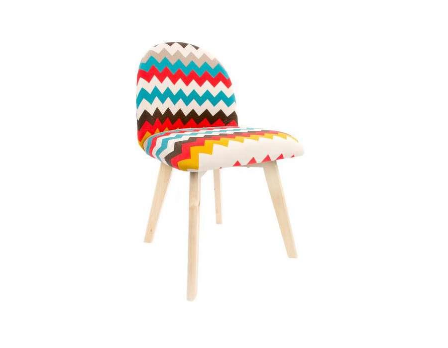 Chaise vintage color e pas chere ann e 60 for Chaise bois coloree