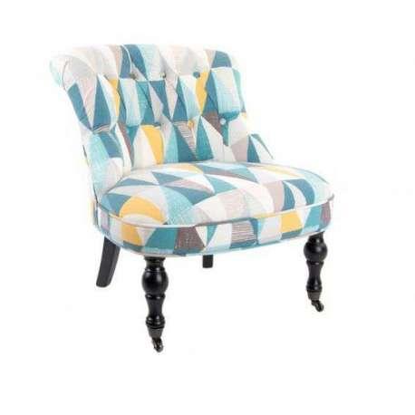 fauteuil crapaud losange moderne - Fauteuil Colore