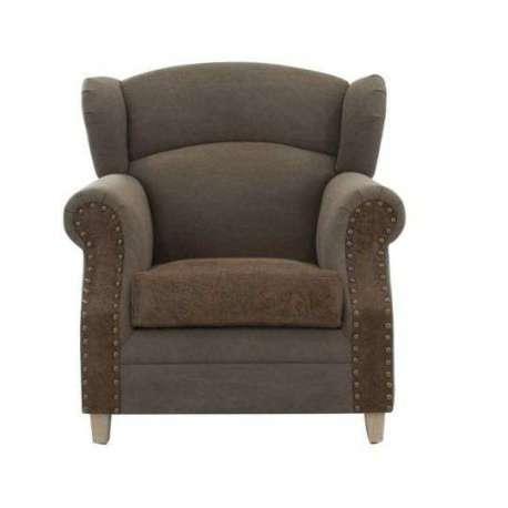 Fauteuil gros accoudoirs vintage simili cuir pas cher - Gros fauteuil confortable ...
