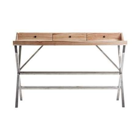 Bureau moderne bois chromé