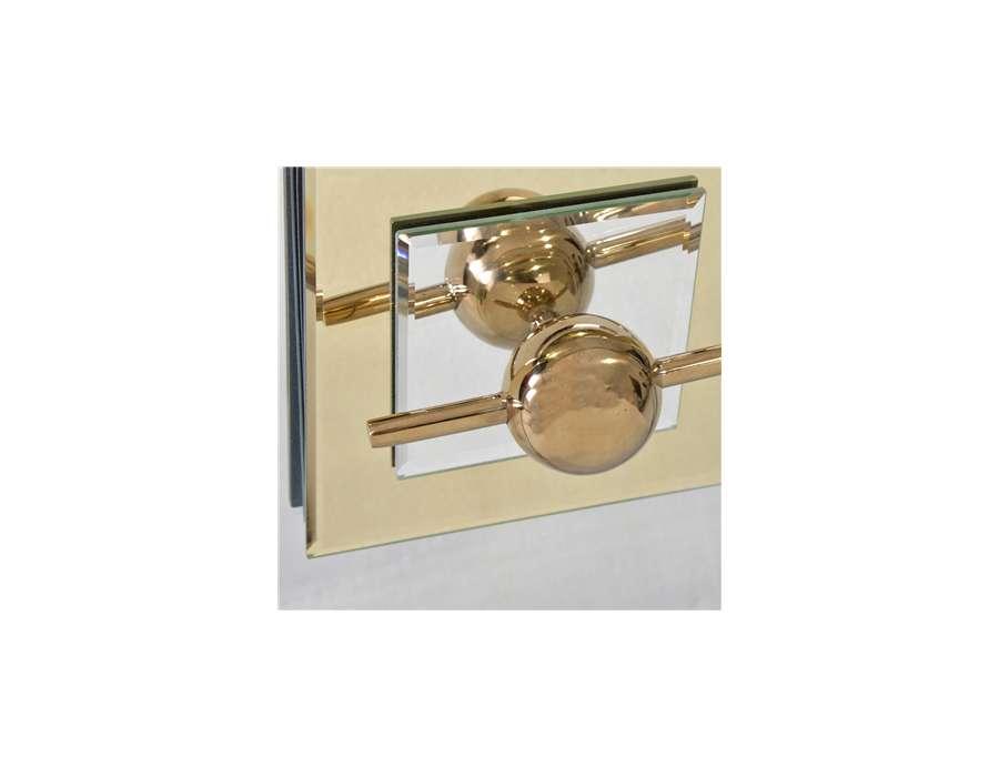 Buffet miroir dor art deco avec 2 portes - Peindre un miroir dore ...