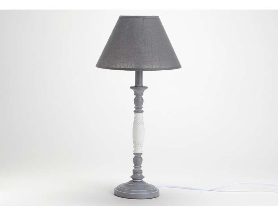 Lampe chevet - Lampe de chevet grise ...