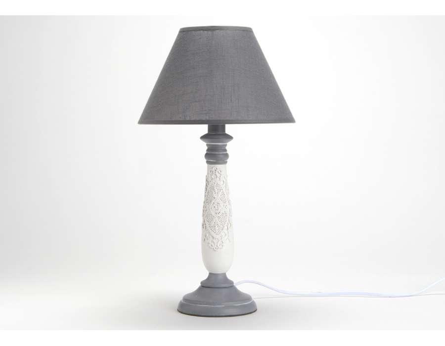 Lampe chevet 2 - Lampe de chevet grise ...