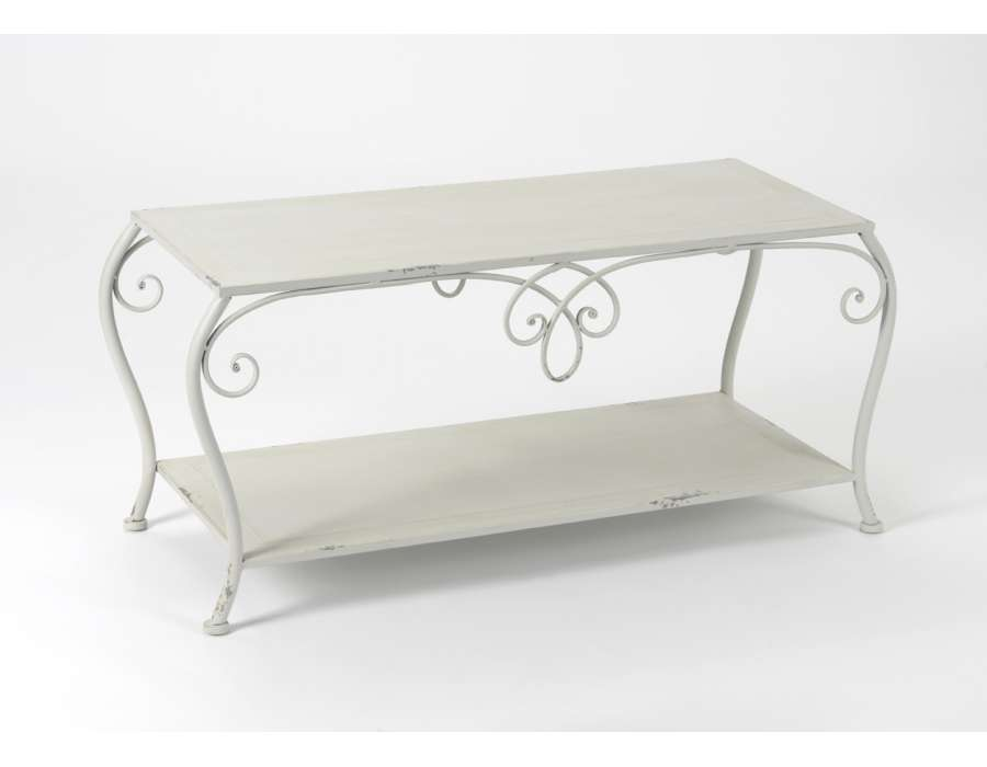 table basse fer gris. Black Bedroom Furniture Sets. Home Design Ideas